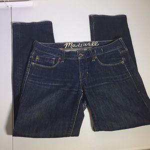 Madewell dark wash 'rail straight' jeans sz 27x30